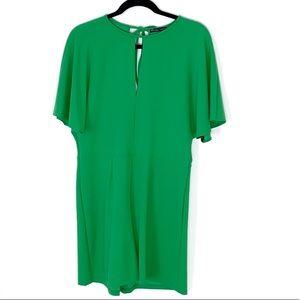 Zara green keyhole front romper